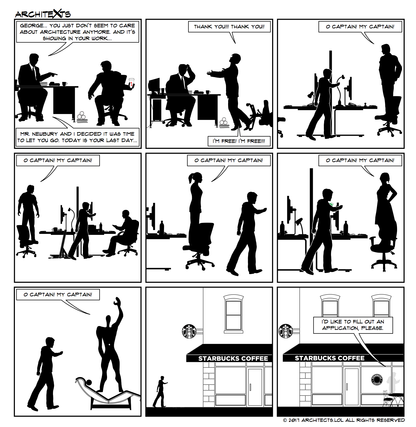 Architexts - A webcomic about architectural professionals